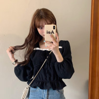 shirt Three black books Average size Spring 2021 other 96% and above Long sleeves commute Regular square neck Socket puff sleeve Solid color 18-24 years old Self cultivation Gehan Meiyi Korean version 9516A Frenulum Other 100.00% Exclusive payment of tmall