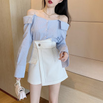 Fashion suit Summer 2020 S M L XL Blue shirt white shirt white skirt black skirt 18-25 years old Gehan Meiyi OvZrZ 31% (inclusive) - 50% (inclusive) Other 100.00% Pure e-commerce (online only)
