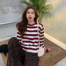 sweater Spring 2021 S M L XL Red, blue, black Long sleeves Socket singleton  Regular other 95% and above Crew neck Regular commute routine stripe Straight cylinder Regular wool Keep warm and warm 18-24 years old Gehan Meiyi Other 100.00% Exclusive payment of tmall