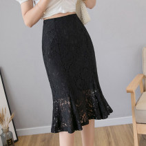 skirt Summer 2021 S M L XL Apricot black longuette commute High waist skirt Solid color Type H 25-29 years old XH8126#38 91% (inclusive) - 95% (inclusive) Lace Leisure trace other Lace Simplicity New polyester 95% other 5% Pure e-commerce (online only)