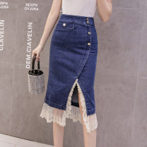 skirt Winter 2020 S M L XL 2XL blue Mid length dress Versatile High waist skirt Solid color Type A 18-24 years old XH758#40 91% (inclusive) - 95% (inclusive) Leisure trace polyester fiber Other polyester 95% 5% Pure e-commerce (online only)