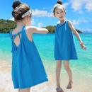 Dress female Linbeizi / linbaizi Cotton 95% other 5% summer Korean version Skirt / vest stripe Pure cotton (100% cotton content) Strapless skirt Class B 2 years old, 3 years old, 4 years old, 5 years old, 6 years old, 7 years old, 8 years old, 9 years old, 10 years old