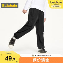 trousers Bala male 140cm 150cm 160cm 165cm 170cm 175cm Black 9000 dark green 4982 spring and autumn trousers leisure time There are models in the real shooting Casual pants Leather belt middle-waisted nylon Don't open the crotch Polyamide fiber (nylon) 100% Class C Autumn of 2019 10, 11, 12, 13, 14