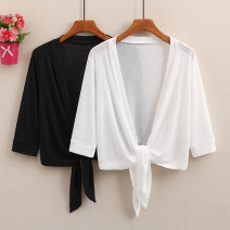 Lace / Chiffon Summer 2020 White, red, black M L XL 2XL Long sleeves commute Cardigan singleton  easy have cash less than that is registered in the accounts V-neck Solid color pagoda sleeve 25-29 years old Frenulum Cotton 100%