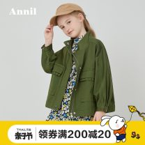 Jacket / leather Annil / anel female Pineal green new light Khaki 110cm 120cm 130cm 140cm 150cm 160cm 170cm Cotton blended fabric leisure time spring and autumn routine nothing Zipper shirt There are models in the real shooting EG015018-242861 stand collar Spring 2020