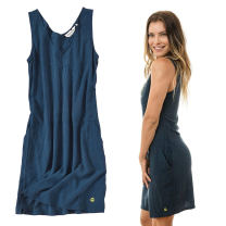 Dress Summer of 2019 Dark blue for illustration only 1 / tile bust 86,3 / tile bust 94,4 / tile bust 98,5 / tile bust 102160cm60kg wear 3, bust 95 wear 3, the actual bust can be flat almost Mid length dress singleton  Sleeveless street V-neck middle-waisted Solid color zipper A-line skirt Type A