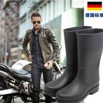 Rain shoes black Other / other 39,40,41,42,43,44,45 plastic cement waterproof Solid color spring and autumn Youth (18-40 years old) plastic cement NX-002