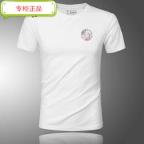 T-shirt other Plush and thicken M. L, XL, 2XL, 3XL, 4XL (185-210kg), 5XL (210-240kg), 6xl (240-270kg) Versace Short sleeve Crew neck Super slim daily Four seasons