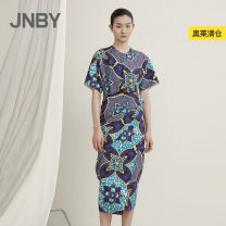 Dress Summer 2020 XS S M L XL longuette singleton  Short sleeve commute Crew neck middle-waisted other Socket other routine Others 25-29 years old JNBY / Jiangnan cloth clothing Simplicity 51% (inclusive) - 70% (inclusive) other nylon Same model in shopping mall (sold online and offline)