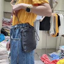 Bag The single shoulder bag canvas other Other / other Black, fluorescent green Single shoulder