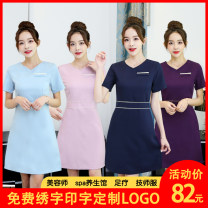 Professional dress suit S,M,L,XL,XXL,XXXL Summer 2020 Short sleeve 903-1 A-line skirt 18-25 years old Huilai 30% and below spandex