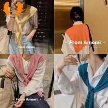 Scarf / silk scarf / Shawl polyester Spring and autumn, summer, winter female Shawl multi-function Korean version other Students, youth, middle age Solid color two-sided More than 96% Other WJ224