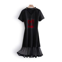 Dress Spring 2021 black M,XL longuette singleton  Short sleeve commute middle-waisted Solid color Socket routine Others 25-29 years old Other / other Korean version MXH2150S9A 51% (inclusive) - 70% (inclusive) other other