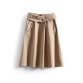 skirt Spring 2021 S,M,L Army green, coffee, khaki, army green (no belt), coffee (no belt), khaki (no belt) Mid length dress fresh Natural waist other Solid color Type A 25-29 years old More than 95% polyester fiber