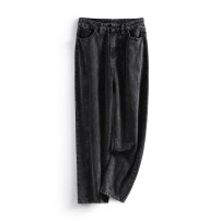 Jeans Spring 2021 Denim grey S,M,L,XL trousers Natural waist Straight pants routine 25-29 years old other LKK37881 Other / other 96% and above