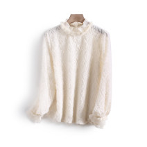 Lace / Chiffon Spring 2021 Off white S,M,L Long sleeves commute Socket singleton  Straight cylinder Regular other other other 25-29 years old Other / other LKK44421 Korean version 96% and above