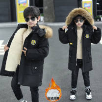 Cotton padded jacket male No detachable cap other Other / other Magic b black Plush thickening, magic B Green Plush thickening, magic B Navy Plush thickening 120cm,130cm,140cm,150cm,160cm thickening Korean version cotton 5 years old