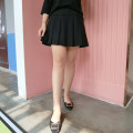 Women's large Autumn of 2019, spring of 2020 black 3XL,4XL,5XL,6XL skirt singleton  commute easy moderate Solid color Korean version Three dimensional cutting Short skirt other