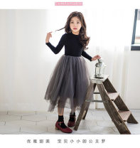 Dress Black, black plush female Other / other 100cm,110cm,120cm,130cm,140cm,150cm,160cm,165cm Other 100% winter Korean version Long sleeves Solid color