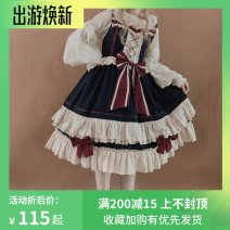 Dress Autumn of 2019 Suspender skirt, inside, skirt + inside, skirt + inside + hairband, [if you need an airplane box, please order note] S. L, one size fits all Mid length dress singleton  Sleeveless Sweet One word collar middle-waisted Decor zipper Cake skirt Flying sleeve camisole 18-24 years old