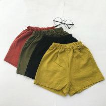trousers Other / other neutral 80cm 90cm 100cm 110cm 120cm 130cm Navy black ginger grey summer Pant Versatile Leather belt Cotton and hemp 80.90.100.110.120.130