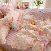 Bedding Set / four piece set / multi piece set cotton other Plants and flowers 133x72 HRHM cotton 4 pieces 40 Pingan - jade, fireworks, flowers blooming on the street, sunny day, fruit love, a dream Sheet type Qualified products 100% cotton
