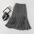 skirt Spring 2021 27,28,29,30 Black, Caramel Mid length dress fresh High waist Irregular Decor Type A XZ07010/27/0.295 More than 95% cotton