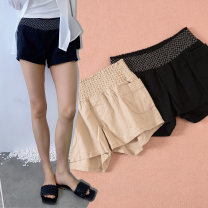 Casual pants Black, beige, for illustration only XS / hip 84, S / hip 88, M / hip 92, L / hip 96, XL / hip 108, 1x / hip 116, 2x / hip 126, 3x / hip 138160cm60kg wear XL, hip 98 wear XL, l can wear just right Summer of 2018 shorts Straight pants low-waisted street routine hemp pocket hemp