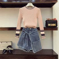Fashion suit Autumn of 2018 M, L Pink 18-25 years old Other / other QQQ313 96% and above polyester fiber