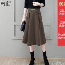 skirt Autumn 2020 26/S,27/M,28/L,29/XL Black, coffee, coffee green Mid length dress commute High waist A-line skirt Solid color Type A 25-29 years old cm031291 51% (inclusive) - 70% (inclusive) Other / other Viscose Korean version