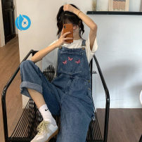 Jeans Summer 2020 Picture color S,M,L trousers High waist rompers routine 18-24 years old Embroidery other Dark color 30% and below