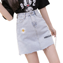 skirt Summer 2020 S,M,L,XL,2XL Denim Short skirt Versatile Natural waist A-line skirt Type A CINISIOR
