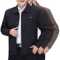 Pajamas / housewear set male Other / other 170- L,175- XL,180- 2XL,185- 3XL,190- 4XL,195- 5XL,165- M Button version - light grey, button version - brown, button version - blue black, zipper version - light grey, zipper version - blue black, zipper version - brown other Long sleeves Sports Home autumn
