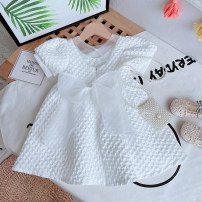Dress White, pink female Other / other Cotton 85% viscose 15% summer Korean version Solid color Cotton blended fabric Princess Dress 2 years old, 3 years old, 4 years old, 5 years old, 6 years old, 7 years old, 8 years old Chinese Mainland Zhejiang Province Jiaxing City