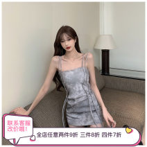 Dress Summer 2021 Picture color Average size Short skirt singleton  Sleeveless commute One word collar middle-waisted other Socket A-line skirt routine camisole Type A Korean version other other