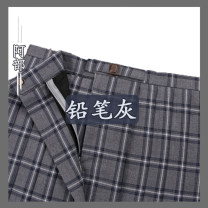 skirt Spring of 2018 S,XL,L,M Pencil grey plaid skirt, pencil grey collar flower, pencil grey tie, pencil grey tie, pencil grey double-layer tie, pencil grey hand tie, single pat accessories need to pay 8 yuan, postage is not paid Middle-skirt fresh Pleated skirt lattice 18-24 years old Same style