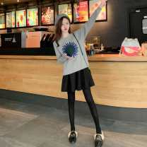Nursing clothes M,L,XL,2XL Other / other zipper Spring autumn winter Long sleeves have cash less than that is registered in the accounts Korean version Abstract pattern Side opening Cored yarn