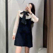 Dress Autumn 2020 black XS,S,M,L TRAF