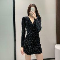 Dress Spring 2021 black XS,S,M,L TRAF