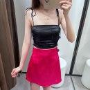 skirt Spring 2021 XS,S,M,L rose red Short skirt Broken flowers TRAF