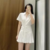 Dress Spring 2021 white XS,S,M,L TRAF