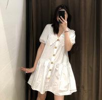 Dress Spring 2020 white XS,S,M,L TRAF