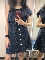 Dress Summer of 2018 navy blue XS S M L