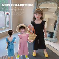 suit Single breasted 12 months, 18 months, 2 years old, 3 years old, 4 years old, 5 years old, 6 years old, 7 years old, 8 years old Other / other summer female Solid color cotton Thin There are models in the real shot Korean version nothing Cotton 100% Chinese Mainland Light blue, black, pink