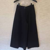 Casual pants Black, camel 1 = XS, 2 = s, 3 = m, 4 = L, 5 = XL Spring 2021 Cropped Trousers Wide leg pants High waist commute routine 30% and below 1100130-322234-001 Pinge Dixin other Korean version nylon