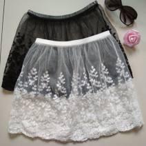 skirt Winter 2020 One size 80-130kg K84 - white fireworks waist skirt 34, u70 - Black fireworks waist skirt 34, E17 - white Lanling waist skirt 34, u34 - Black Lanling waist skirt 34 Short skirt Sweet A-line skirt C24143 Other / other