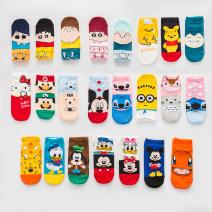 Socks / base socks / silk socks / leg socks lovers Other / other Average size 5 pairs routine Short tube Four seasons Sweet Cartoon animation cotton hygroscopic and sweat releasing Common crotch