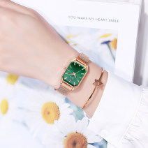 Wristwatch Shop warranty quartz movement  female Leatherwear domestic 3ATM alloy Mineral reinforced glass mirror 7mm rectangle fashion Pointer type brand new Pin buckle other Autumn 2020 yes