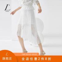 skirt Summer 2020 XS/150 S/155 M/160 L/165 XL/170 Ivory white pistachio green longuette commute High waist A-line skirt Solid color Type A 25-29 years old L0223813 More than 95% L+ polyester fiber Lace lady Polyester 100%