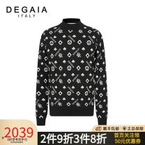 T-shirt / sweater DEGAIA Fashion City black 44 46 48 50 52 54 56 58 routine Socket Do not turn high collar Long sleeves DUBBS23086 autumn Straight cylinder 2020 Wool 100% leisure time Simplicity in Europe and America youth routine Autumn 2020